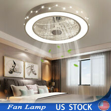 22in Constellation Flush Mount Ceiling Fan w/Dimmable Led Light +Remote Control
