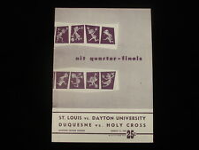 March 11, 1952 St. Louis vs. Dayton, Duquesne vs. Holy Cross Basketball Program
