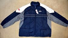 "SEATTLE SEAHAWKS OFFICIAL NFL ""SI"" DUNBROOKE WINDBREAKER JACKET-SIZE XXL-NWT"