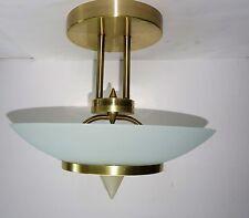 Deckenlampe, Hängelampe - Paul Neuhaus - satinierter Glasschirm