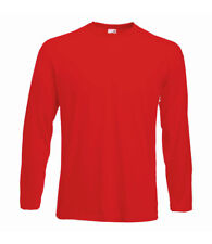 Long Sleeve Cotton GREY RED BLUE BLACK WHITE T-Shirt Tee Shirt S-XXXL + 4XL+ 5XL