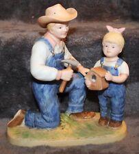 Homco Denim Days Debbie's Dad #1515 Figurine