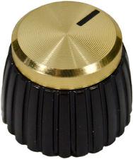 Black & Gold Cap Replacement AMP Knob 1/4'' for Marshall JCM JVM JMP DSL VS MG