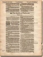 1611 First Ed KING JAMES BIBLE 1611-1649 LEAF sm Folio OUR SELECTION