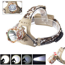8000LM Camouflage CREE XML XM-L T6 LED 18650 Headlamp Headlight Lamp Light HOT!!