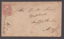 **US 19th Century Cover, SC# 64b Mt. Algor, IA RARE, DPO7 M/S Cancel, Contents