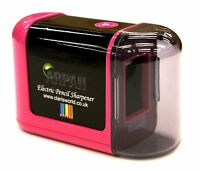Pink High Quality Desktop Pencil Sharpener Electric Battery Operated  - V-3-PK