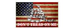 2x Don't Tread on Me distressed U.S. Flag Sticker Decal Car USA America Patriots