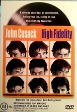 HIGH FIDELITY DVD JOHN CUSACK 2001  FREE POST WITHIN AUSTRALIA