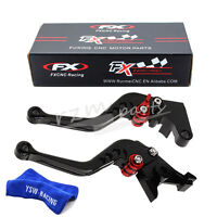 FXCNC 147mm CNC Front&Rear Disc Brake Levers fit Vespa LX150 GTS 250 300 S Black