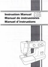 Brother XL5130 XL5232 XL5340 Sewing Machine Users Guide Instruction Manual Book