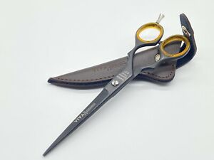 """Scissors Shears Barber Saloon Hairdressing Quality Promise 6.5"""" Leather Sheath"""