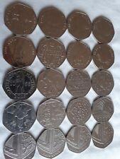 Job lot 50 pence Coins Rare 50p Bulk Collection Commemorative Beatrix Shield VGC