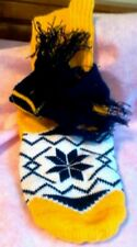 Zack and Zoey X Small Dog Sweater with Scarf Yellow and Navy