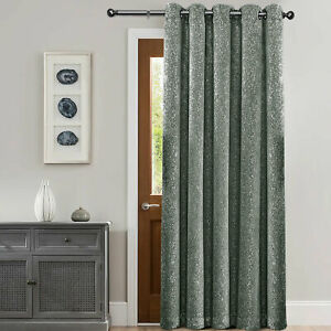 """Thick Ready Made Door Curtain Thermal Ring Top Drape & Free Tie Back 66"""" x 84"""""""