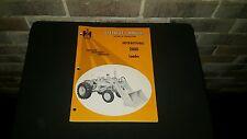 Original Oem Vintage International 2000 Loader Tractor Operators Manual Book