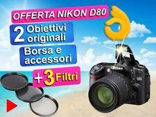 OFFERTA Nikon D80 Reflex usata con obiettivi e accessori.