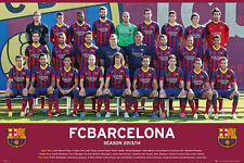 Barcelona Players - Team 2013-2014 POSTER 61x91cm NEW * Lionel Messi soccer