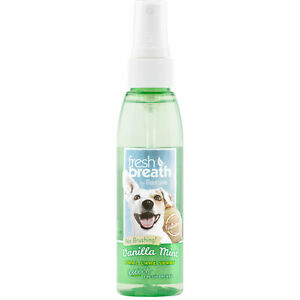 TropiClean Fresh Breath Vanilla Mint Oral Care Spray for Dogs