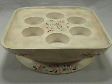 PartyLite Spring Floral 6 Tealight Votive Candle Holder Square Flowers