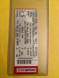 2021 GREEN DAY / WEEZER Hella Mega Tour Oracle Park SF 8/27 GA PIT Ticket Stub