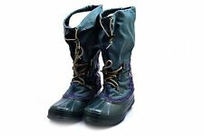 Womens Sorel Snow Winter Boots Green Purple Size 8