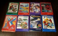 Intellivision 8 Video Game cartridge lot in box POKER/TRON/SNAFU/UTOPIA/BASEBALL