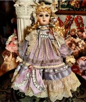 Lavendar Mundia Antique Reproduction Jumeau 18 in French Victorian BeBe doll