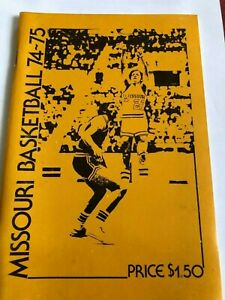 University of Missouri Tigers Basketball Guide 1974-75 Willie Smith 22 PPG