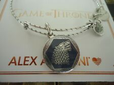 Alex and Ani GAME OF THRONES WINTER IS COMING Silver Bangle New W/Tag Card & Box
