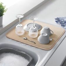 Addis Microfibre Drying Mat Cream Washing Up Sink Machine Washable 40cm x 45cm