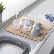 Addis Microfibre Drying Mat Cream Washing Up Sink Machine Washable 40cm x 45cm