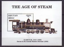 Bhutan sheet MiNr 228 MiNr 1233 ** MNH, Stoomtrein, Dampfzug, Steam train [016]
