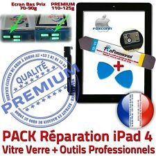 PACK Vitre Tactile iPad 4 Noir Adhésif Écran Verre PREMIUM Assemblé Outil iLAME