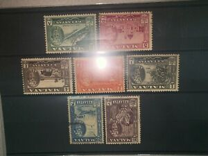 Malaysia malaya 1957-1961 Kelantan 7pcs from 1 cents to 20 cents used