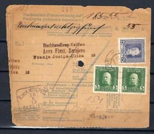AUSTRIA BOSNIA 1918 + 1912 ISSUE PARCEL DOBOJ-SARAJEVO Fercenbauer 500€ RRR!