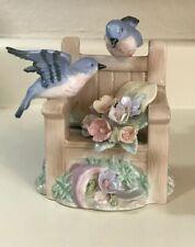 The San Francisco Music Box Co. Porcelain Blue Birds Flowers You Are My Sunshine