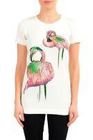 Just Cavalli Women's Graphic Short Sleeve Crewneck T-Shirt US S IT 40