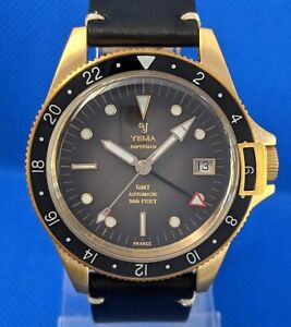 YEMA SUPERMAN BRONZE GMT | 41 MM | BLACK FUME DIAL | FULL KIT | SOLD OUT