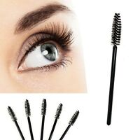10 Pcs Disposable Eyelash Mini Brush Mascara Wands Applicator Spoolers Makeup