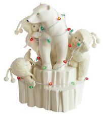 Dept 56 Snowbabies Northern Lights Polar Bear LED Figurine Ornament 21cm 796014