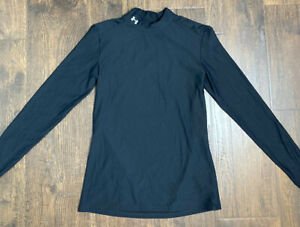 Under Armour Women's Fleece-Lined Fitted Mock Neck Compression Top Black Large