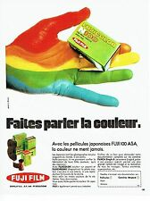 PUBLICITE ADVERTISING  017  1971   pellicule film Fuji 100 ASA  Fujicolor