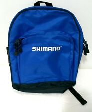 Shimano Fishing 40cm Backpack Blue Black Outdoor Zip Up Excellent Condition