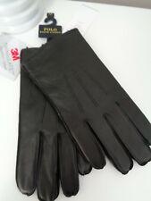 BNWT Polo Ralph Lauren Black Nappa Leather 3M Thinsulate Gloves - L GIFT IDEA!