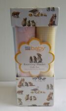Martha Stewart Everyday Baby Baby Receiving Blanket Gift Set 4 Printed Flannel