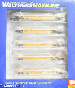 Walthers Mainline #910-55633 Thrall 5-Unit Rebuilt 40' Well Car TTX DTTX #748298