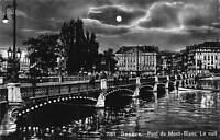 Switzerland Geneve Pont du Mont Blanc La Nuit Bridge Full Moonlight
