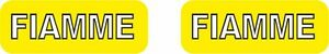 Fiamme Yellow label (outlined lettering) rim decals