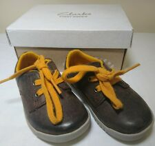 Clarks Crazy Rock FST brown lace up first walking shoes F G UK 4.5 4 HALF (C)